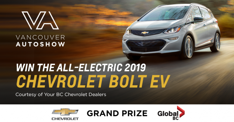 Vancouver Auto Show Contest: WIN THE ALL-ELECTRIC 2019